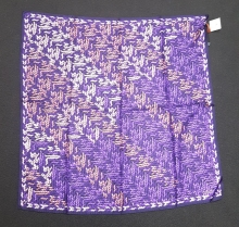 Missoni Blue Cable Knit Silk Scarf