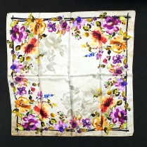 Barbieri Floral Silk Scarf Cream