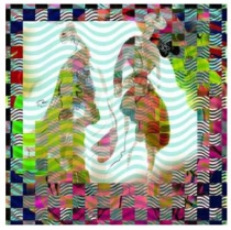 Christian Lacroix African Fog Scarf TURQ