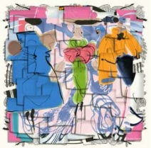Christian Lacroix Post it Scarf Blush