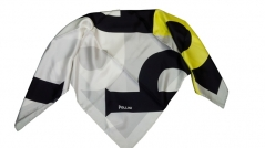 Pollini Word Silk Scarf Black