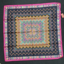 Missoni Black Fuchsia Silk Scarf