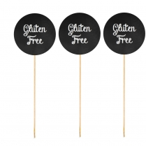Gluten Free Food Skewer Labels Pk 25