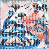 Christian Lacroix Arlequin Scarf Blue