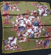 Laura Biagiotti Olive Floral Scarf