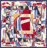Mantero 1902 Sailing Silk Scarf Cream