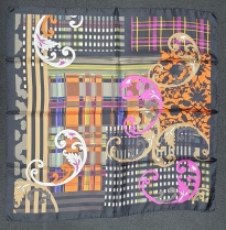 Barbieri Paisley Geo Scarf Orange