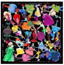 Christian Lacroix Sweetie Scarf Black