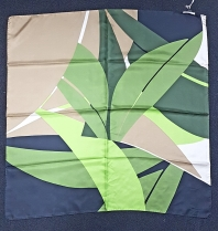 Barbieri Modern Geo Palm Green Scarf