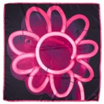 Echo Defeo Neon Scarf Hot Pink