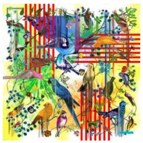 Christian Lacroix Birds Sinfoinia Blue