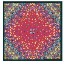 Kenzo Junior Red Silk Scarf