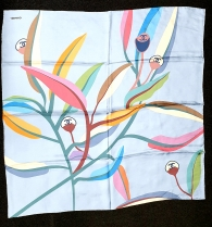 Chanel Bluesto silk Scarf