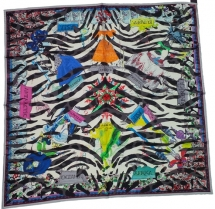 Christian Lacroix Tiger World Scarf Blk