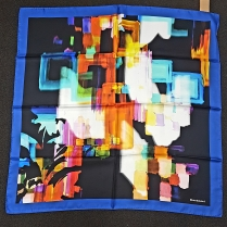 Barbieri Colour Illusion  Black Scarf