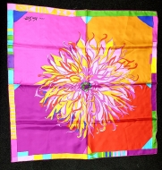 Ken Scott Flowerenzo Silk Scarf