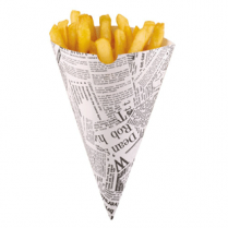 Newspaper Food Cones Pk 50