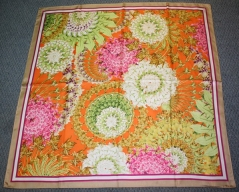 Echo Kaleidocope Silk Scarf Orange