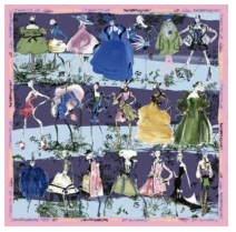 Christian Lacroix 20 Ans Scarf Light Blu