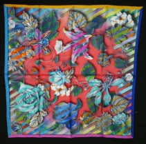 Christian Lacroix CineticRose Scarf Red