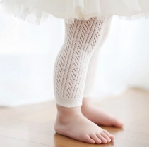 Bebe Footless Tights Winter White