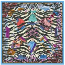 Christian Lacroix Tiger World Scarf Oliv