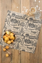Bistro Kraft Printed Food Paper pk 100