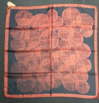 Barbieri Sketchy Circles Scarf Rust