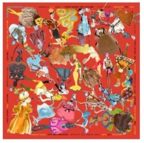 Christian Lacroix Sweetie Scarf Orange