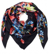 Echo Adelaide Floral Silk Scarf Navy
