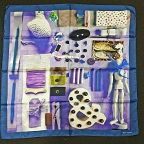 Barbieri Arty Blue Silk Scarf