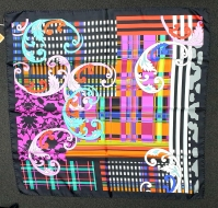 Barbieri Paisley Geo Scarf Royal