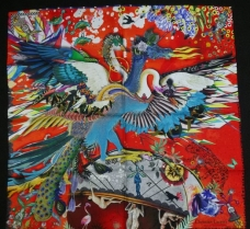 Christian Lacroix Dragangel Scarf Red