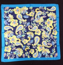 Barbieri Modern Floral Paisley NVY Scarf
