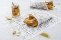 Fish N Chips Wax Paper Pk 100