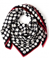 Echo Polka Dot Silk Scarf Black