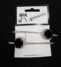Summers Night Diamonte Hair Slides pr