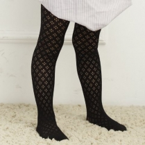 Cecile Black Lace Stockings