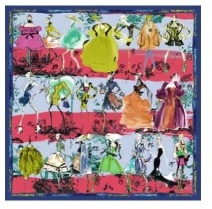 Christian Lacroix 20 Ans Scarf Red