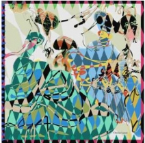 Christian Lacroix Arlequin Scarf Green