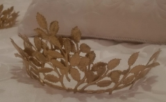 Antique Gold Leaf Tiara
