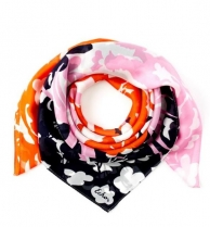 Echo Fly Away Flower Scarf Navy