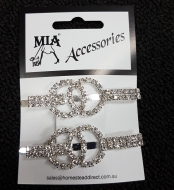 Diamonte Ring Hair Slides pr