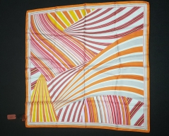 Missoni Bright Orange Red Stripe Scarf