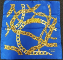 Moschino Chains Silk Scarf Royal
