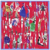 Christian Lacroix Cache Cache Scarf Red