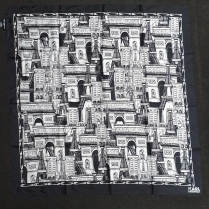 Karl Lagerfield Paris Cityscape Silk Sca