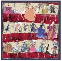 Christian Lacroix 20th Ans Scarf Blue