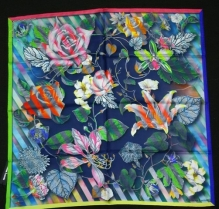 Christian Lacroix CineticRose Scarf Navy