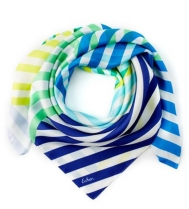 Echo Cambon Stripe Scarf Brilliant Blue